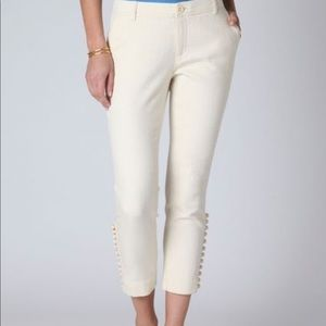 Daughters of Liberation ivory cropped pants 10